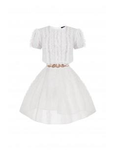 Mini vestido com babados - Elisabetta Franchi - AB34282E2_360