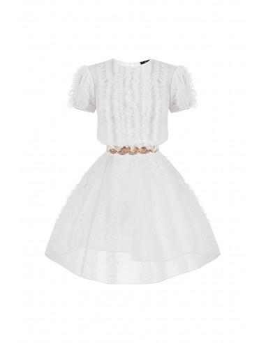 Mini dress with frills - Elisabetta Franchi - AB34282E2_360