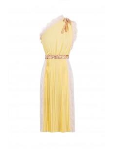 Eengeschouderde jurk met strass steentjes - Elisabetta Franchi - AB36982E2_P39