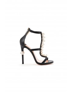 Sandal with pearls - Elisabetta Franchi - SA41S83E2_110