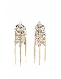 Ährenmotiv Hänge Ohrringe mit Strass - Elisabetta Franchi - OR51B83E2_610