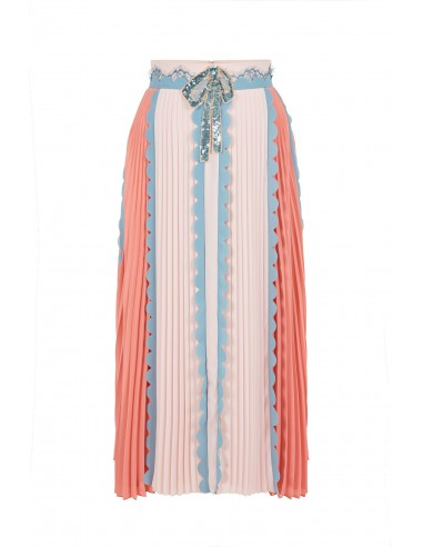 Pleated skirt with bow and rhinestone - Elisabetta Franchi - GO06582E2_P38