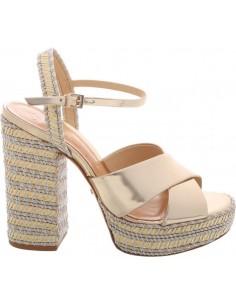 Sandales en cuir métallisé avec plate-forme - Schutz - S2032600270001