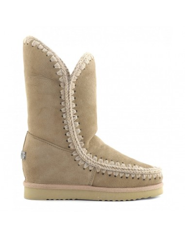 MOU Eskimo inner wedge boots tall in camel - inteskimota_cam