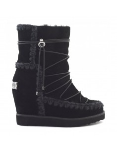 MOU French toe eskimo lace-up in Black - ftweskisho_bkbk