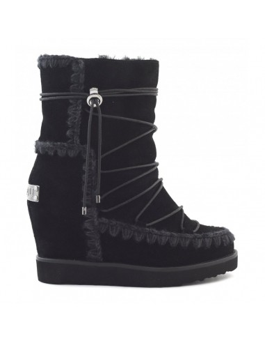 MOU French toe eskimo lace-up in Black - ftweskisho_bkbk