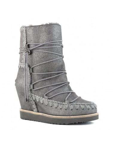 MOU French toe eskimo lace-up in Dust...