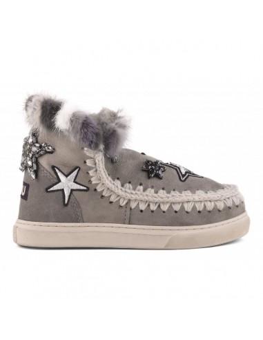 MOU Eskimo Sneaker Stars and Mink in Grey - eskisneptcf-elgrey