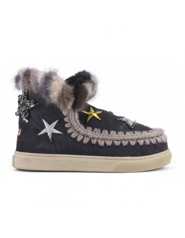 MOU Eskimo Sneaker Stars e Mink em Preto - eskisneptcf-ofblk