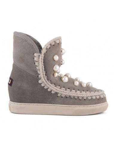 MOU Eskimo Inner Wedge Sneaker Pearl Studs Grey - iwsnepearl-stme