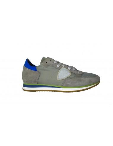 Sneaker PHILIPPE MODEL Leder and Nylon grau - a18itrluw024