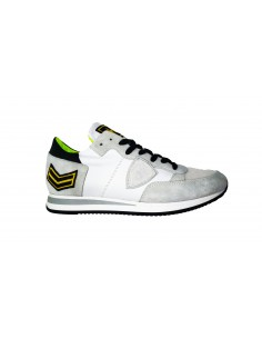 Sneaker PHILIPPE MODEL en cuir blanc et suède - a18itrluux23