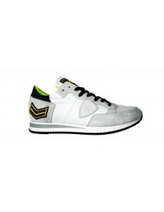 Sneaker PHILIPPE MODEL in wit en suède leer - a18itrluux23