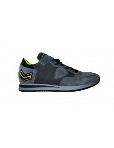 Sneaker PHILIPPE MODEL en cuir carbone et suède gris - a18itrluux21