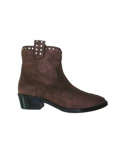 Stiefel Janet & Janet in Bordeaux / Nickel - 42209 Debra