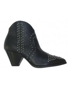 Boots Janet & Janet in zwart leer met studs - 42308, Wanda