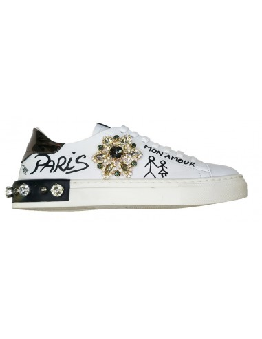 Sneaker Giove Paris with crystal star - Paris, Mon Amour, G2043E