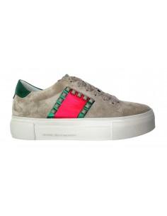 Sneaker Kennel & Schmenger en daim avec rubans - 81-22080:262_ORG