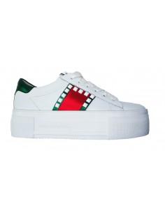 Sneaker Kennel & Schmenger in wit leer met studs - 81-27340.623