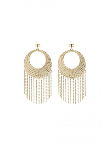 Elisabetta Franchi hanging earrings with chains - OR2359059_610