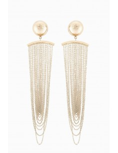 Elisabetta Franchi earrings with chain - OR90A87E2_604
