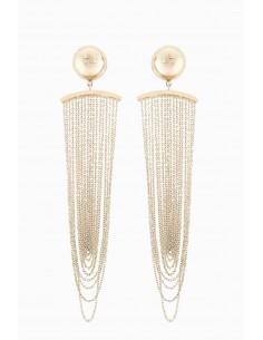 Elisabetta Franchi oorbellen met ketting - OR90A87E2_604