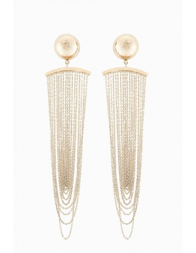 Elisabetta Franchi earrings with fringes - OR90A87E2_604