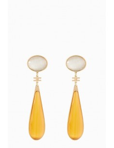 Elisabetta Franchi Colored Pendant Earrings - OR76B88E2_T41