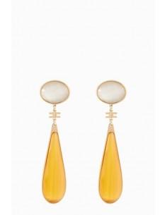 Elisabetta Franchi Gekleurde hanger oorbellen - OR76B88E2_T41