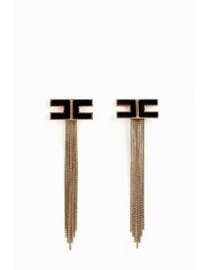 Boucles d'oreilles Elisabetta Franchi avec franges - OR39D88E2