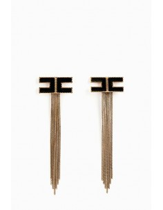 Elisabetta Franchi earrings with fringes - OR39D88E2