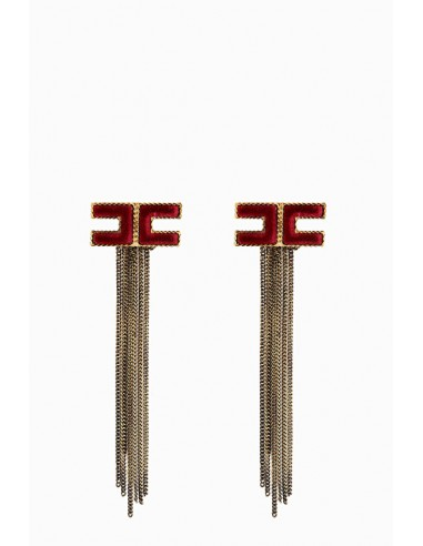 Elisabetta Franchi earrings with fringes
