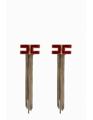 Elisabetta Franchi earrings with fringes