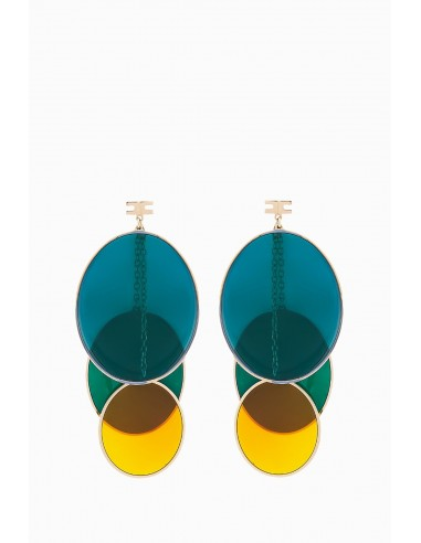 Elisabetta Franchi earrings with ovals - OR11D87E2_050