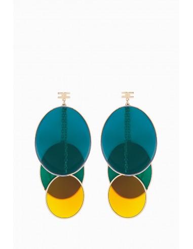 Elisabetta Franchi oorbellen met ovalen - OR11D87E2_050