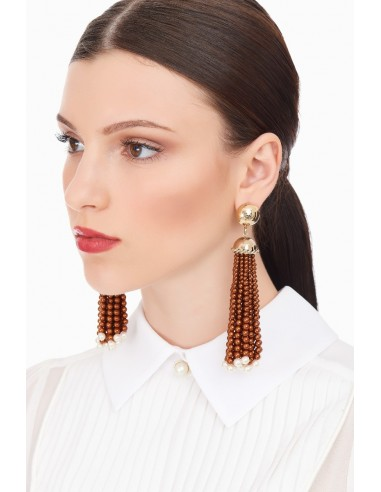 Elisabetta Franchi earrings with pearls
