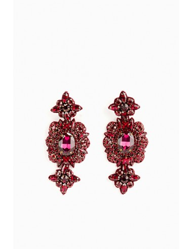 Earrings with rhinestones - Elisabetta Franchi - OR88B88E2