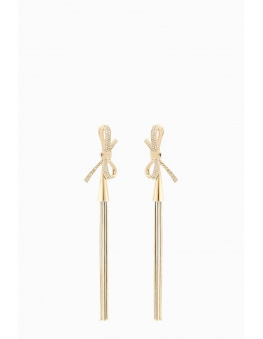 Hangende oorbellen met een strikje - Elisabetta Franchi - OR66B86E2