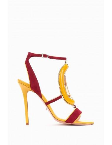 Sandały dwukolorowe - Elisabetta Franchi - SA50F88E2
