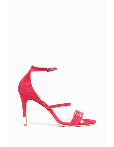Sandálias com aplicação de logotipo - Elisabetta Franchi - SA09S86E2