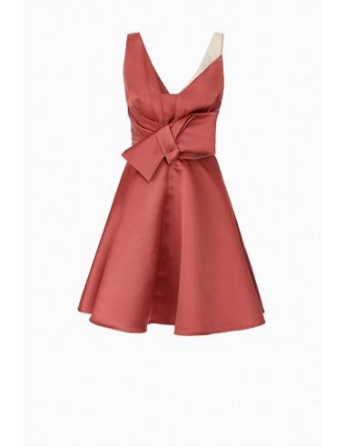 Mini vestido con lazo - Elisabetta Franchi - AB61488E2
