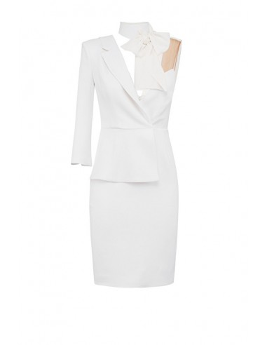 Mini vestido assimétrico - Elisabetta Franchi - AB55888E2