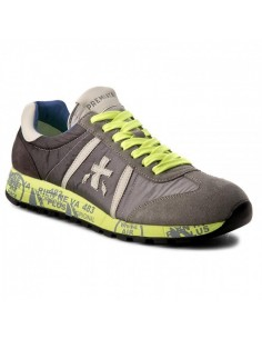 Premiata sneakers in Neon Yellow / Gray