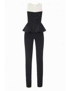 Long jumpsuit with embroidery - Elisabetta Franchi - TU12987E2