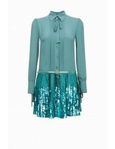 Mini dress with embroidery - Elisabetta Franchi - AB49887E2
