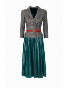 Vestido con cinturón - Elisabetta Franchi - AB51088E2
