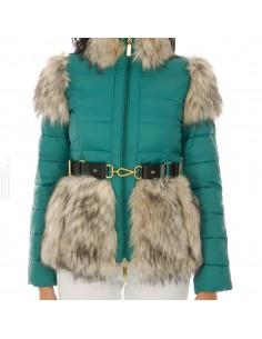 Jaqueta com cinto
