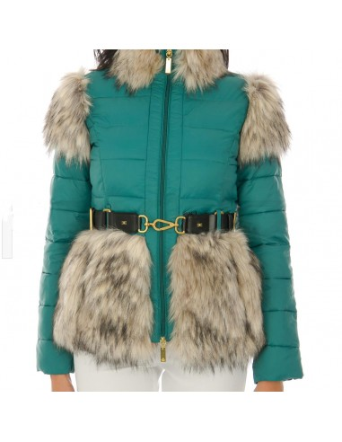 Down jacket with belt