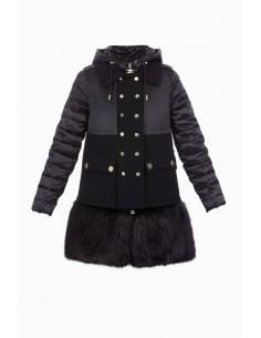 Down jacket with buttons - Elisabetta Franchi - PI11Z86E2
