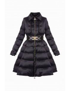 Down jacket with belt - Elisabetta Franchi - PI16Z86E2
